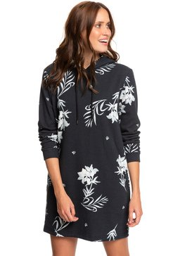 Snow Down - Long Sleeve Hooded Sweatshirt Dress  ERJKD03277