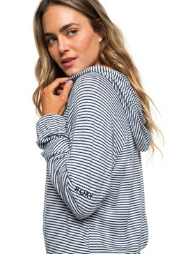 Cloudy Skies Stripe - Zip-Up Hoodie for Women  ERJKT03535
