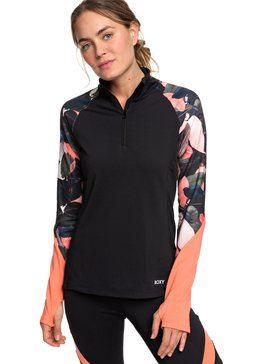 Lead By The Slopes - Technical Half-Zip Mock Neck Long Sleeve Top  ERJKT03585