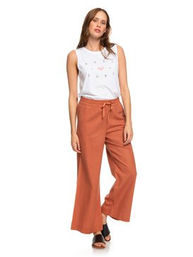 Great Past - Wide Leg Linen Trousers  ERJNP03248