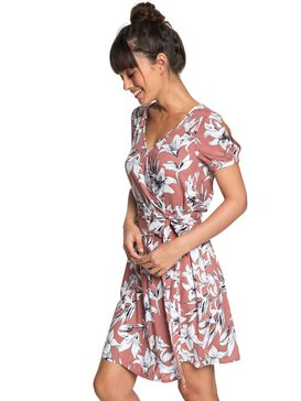 e75db5aaf718 Monument View - Short Sleeve Wrap Dress ERJWD03249