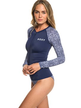 ROXY - Long Sleeve UPF 50 Zip-Up Rash Vest for Women  ERJWR03288