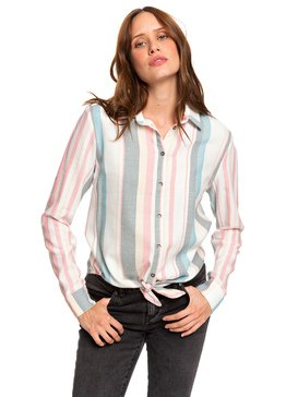 Suburb Vibes - Long Sleeve Tie-Front Shirt  ERJWT03343