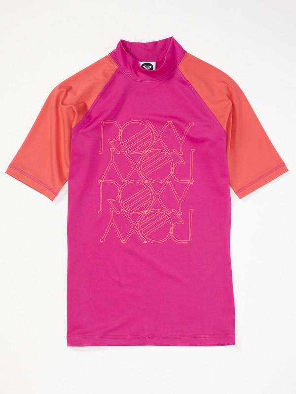 0 Girls 7-14 High Light SS Rashguard  AQGWR00009 Roxy