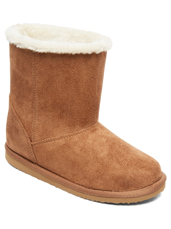 0 Molly - Bottines en peau de mouton synthétique pour Fille Beige ARGB700035 Roxy
