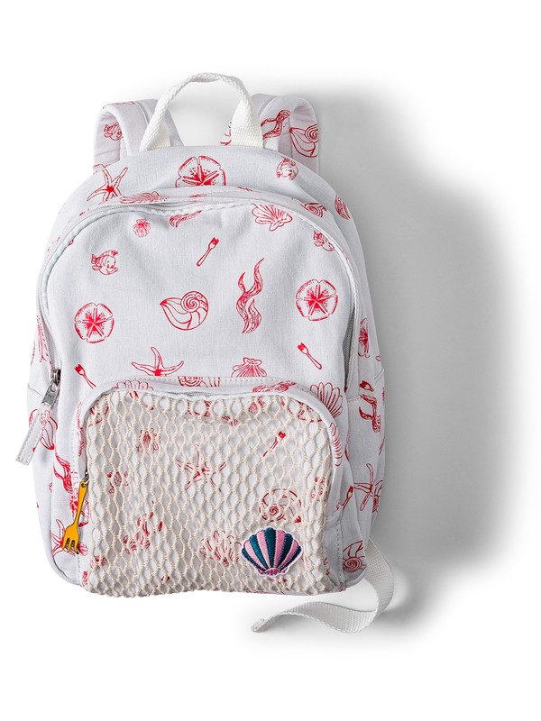 0 Girl's 7-14 Ariel Always Core 8L Extra Small Backpack White ARGBP03000 Roxy