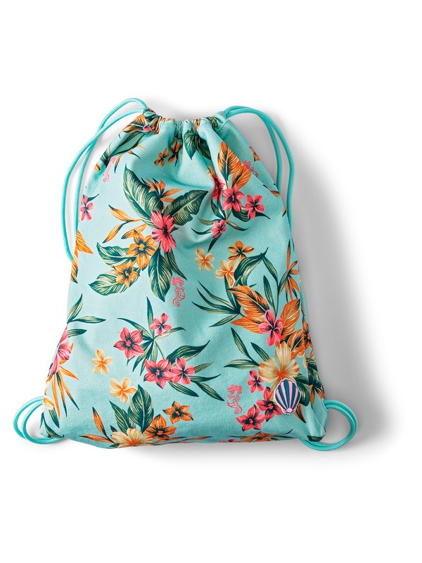 0 Light As A Feather 14.5L Drawstring Backpack Blue ARGBP03001 Roxy