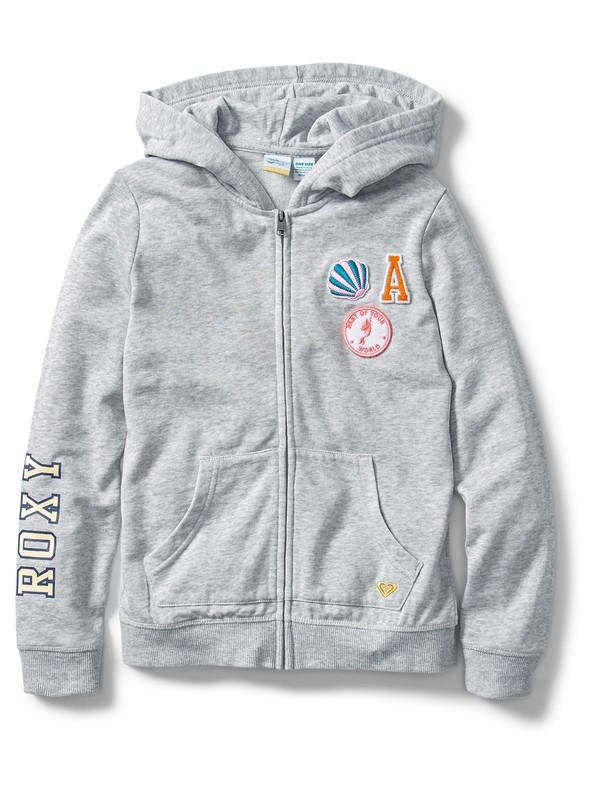0 Ariel Plan Zip-Up Hoodie Grey ARGFT03082 Roxy