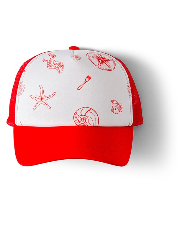 0 Ocean Town Trucker Hat Red ARGHA03018 Roxy