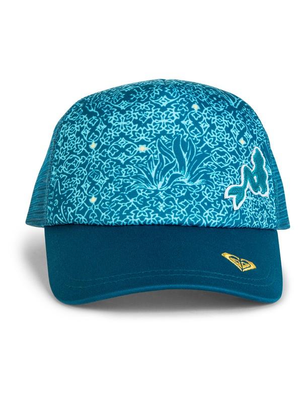 0 Ariel Reggae Town Trucker Cap Blue ARGHA03025 Roxy