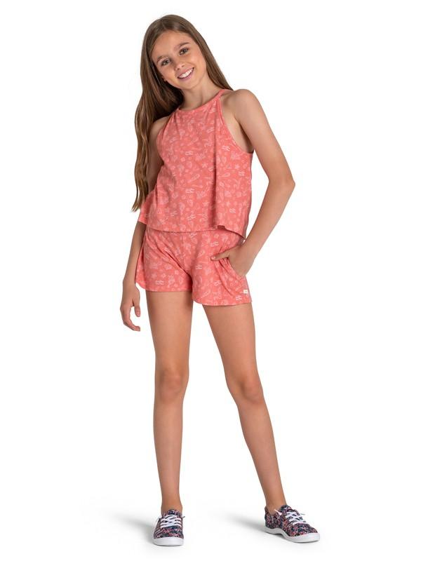 0 Ariel Misty Afternoon Sleeveless Playsuit Pink ARGKD03049 Roxy