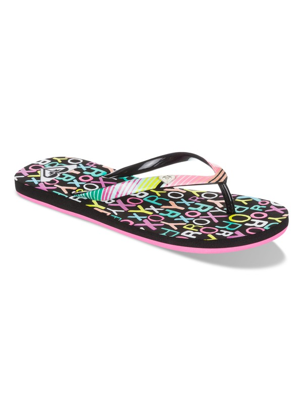 0 Pebbles - Flip-Flops for Girls  ARGL100031 Roxy