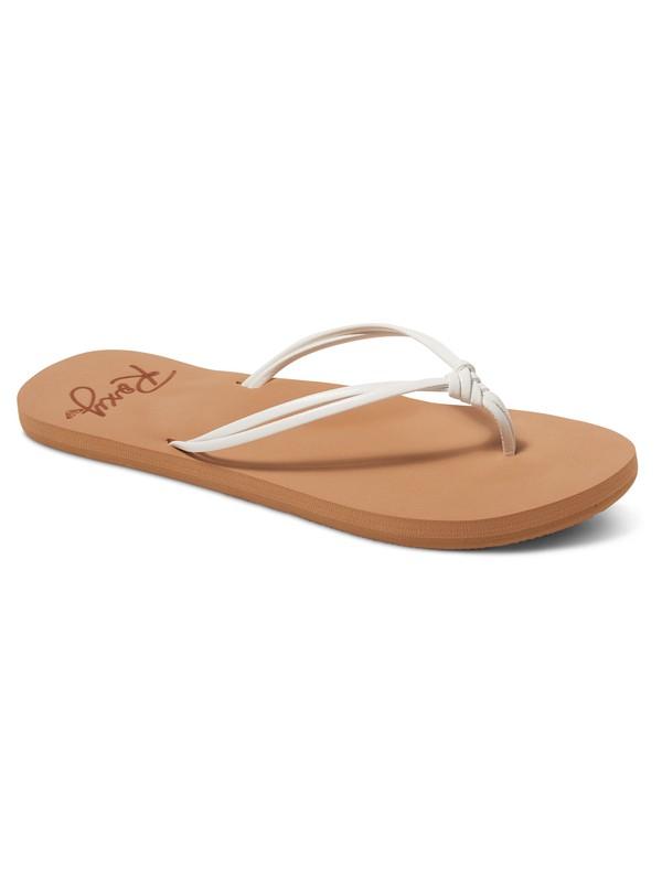 0 Girl's 7-14 Lahaina Flip-Flops White ARGL100179 Roxy