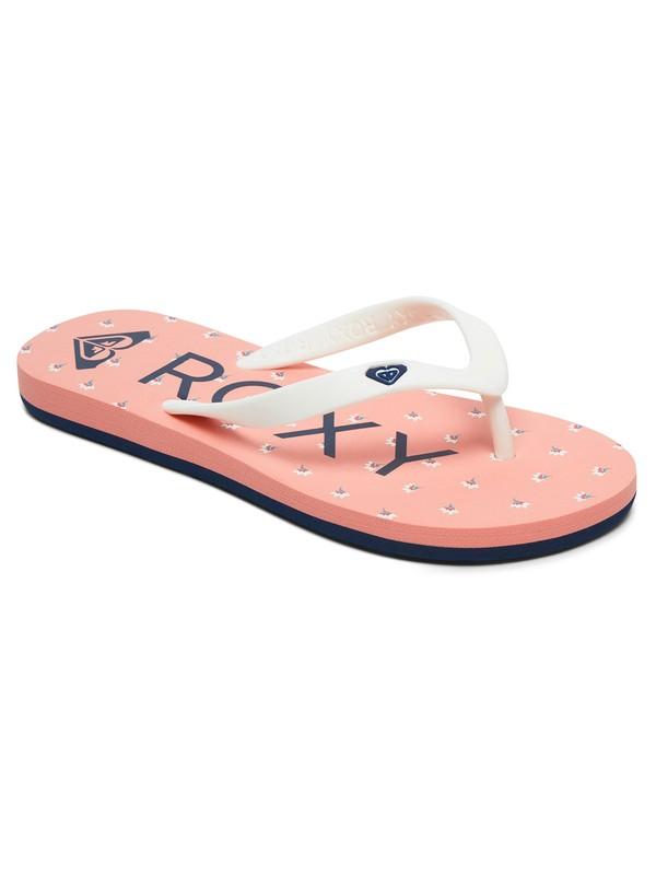 0 Girl's 7-14 Tahiti Flip-Flops Pink ARGL100181 Roxy