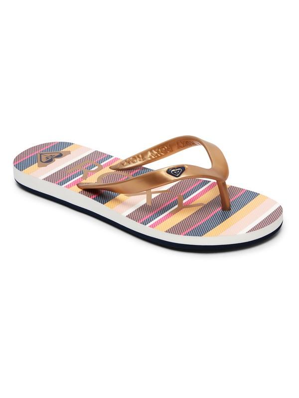 0 Girl's 7-14 Tahiti Flip-Flops Grey ARGL100181 Roxy