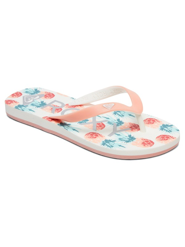 0 Girl's 7-14 Tahiti Flip-Flops Orange ARGL100181 Roxy
