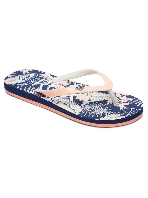 0 Girl's 7-14 Pebbles Flip-Flops Blue ARGL100182 Roxy