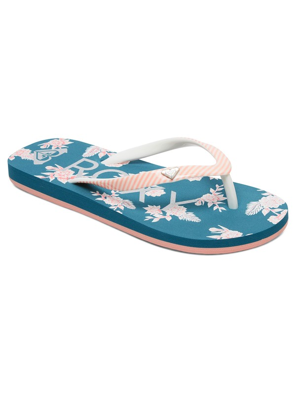 0 Girl's 7-14 Pebbles Flip-Flops Grey ARGL100182 Roxy