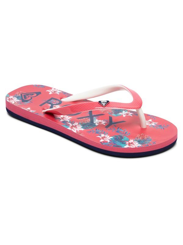 0 Girl's 7-14 Pebbles Flip-Flops Pink ARGL100182 Roxy