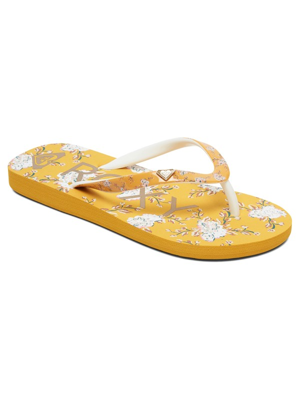 0 Girl's 7-14 Pebbles Flip-Flops Yellow ARGL100182 Roxy