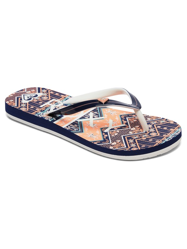 0 Girl's 7-14 Pebbles Flip-Flops Orange ARGL100182 Roxy