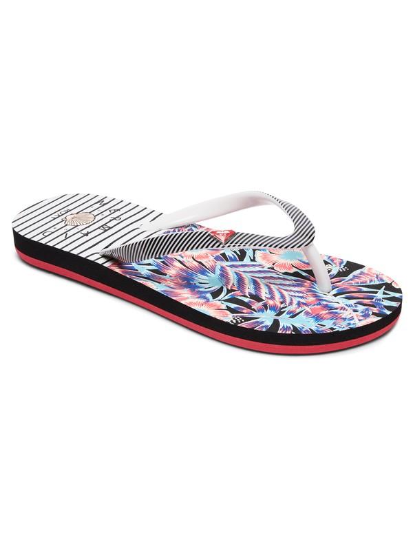 0 Girl's 7-14 Pebbles Flip-Flops White ARGL100182 Roxy
