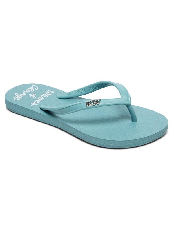 0 Girl's 7-14 Viva Stamp Flip-Flops Blue ARGL100218 Roxy