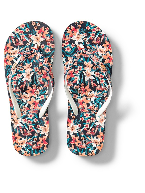 0 Girl's 7-14 Pebbles Flip-Flops Grey ARGL100232 Roxy