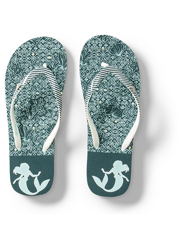 0 Girl's 7-14 Pebbles Flip-Flops Blue ARGL100232 Roxy