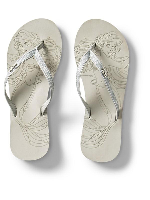 0 Girl's 7-14 Napili Flip-Flops Grey ARGL100233 Roxy