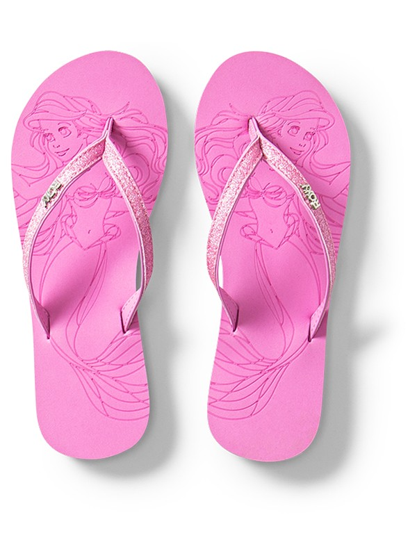 0 Girl's 7-14 Napili Flip-Flops Pink ARGL100233 Roxy