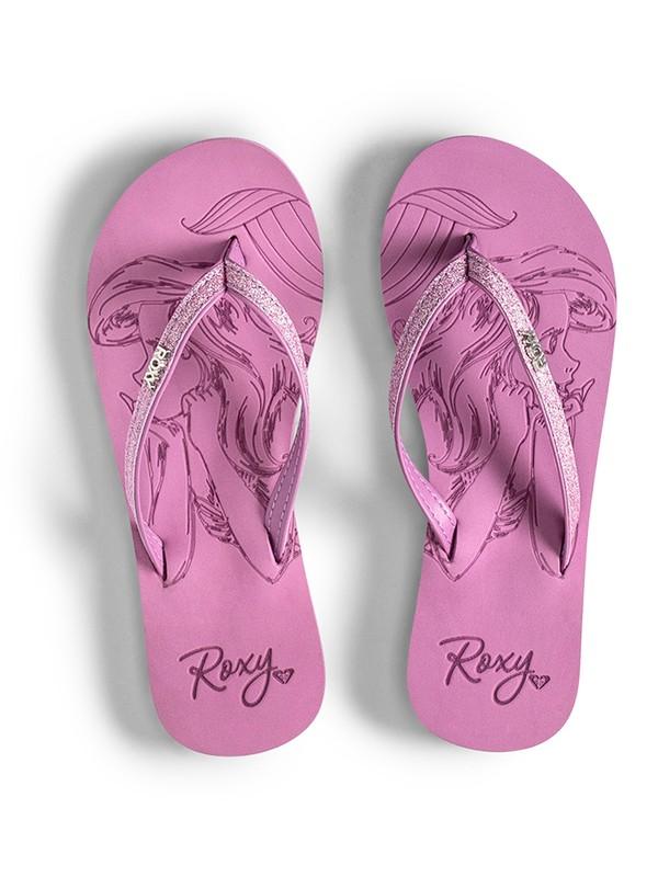 0 Girl's 7-14 Napili Flip-Flops Purple ARGL100233 Roxy