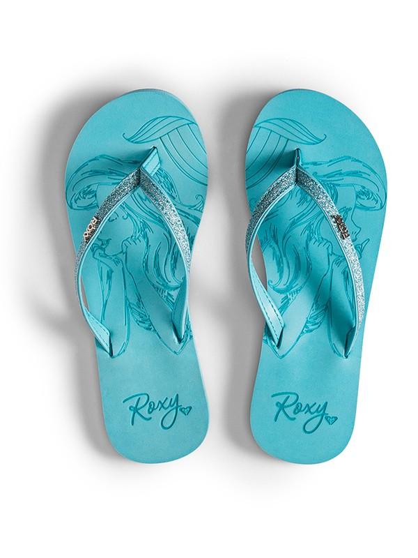 0 Girl's 7-14 Napili Flip-Flops Blue ARGL100233 Roxy