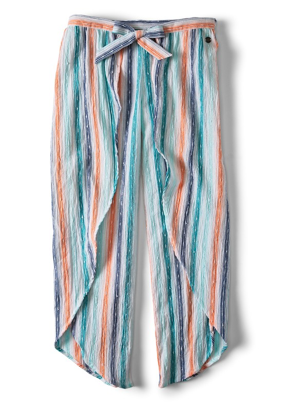 0 Girl's 7-14 Ariel Jessa Tie-Front Viscose Trousers White ARGNP03015 Roxy