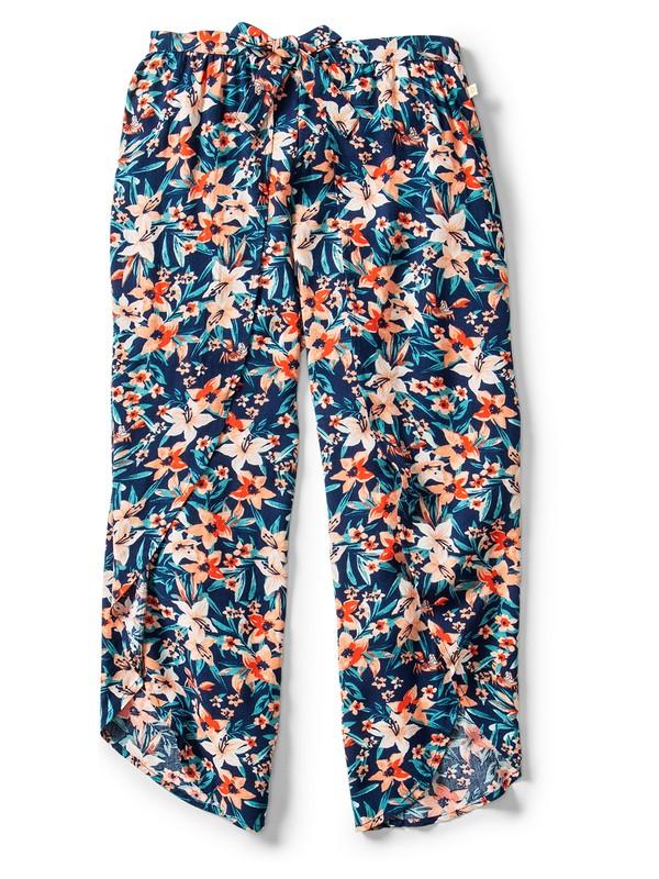 0 Ariel Jessa Tie-Front Viscose Trousers Blue ARGNP03015 Roxy