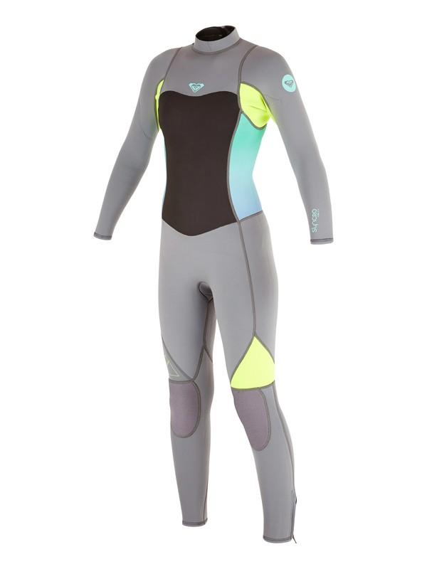 0 Syncro Flatlock 3/2mm - Back Zip Wetsuit  ARGW103008 Roxy