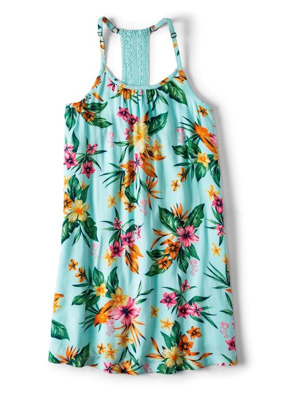 0 Exotic Nature Strappy Dress Blue ARGWD03027 Roxy
