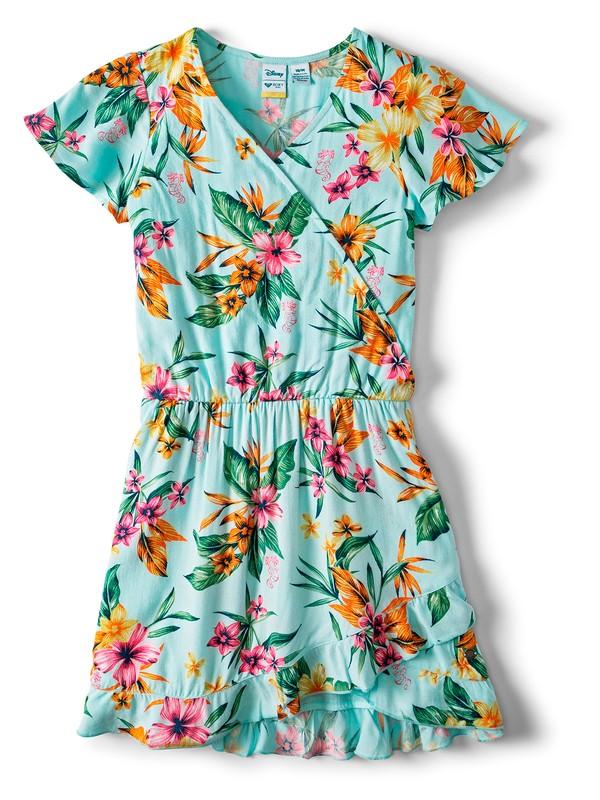 0 Her Fantasy Short Sleeve Dress Blue ARGWD03028 Roxy
