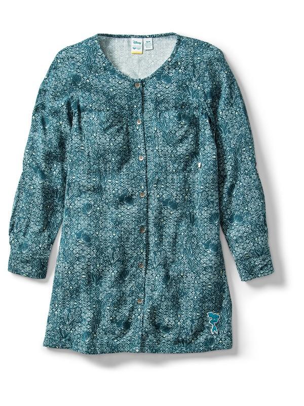 0 Ariel Sun Is Shining Long Sleeve Midi Dress Blue ARGWD03030 Roxy