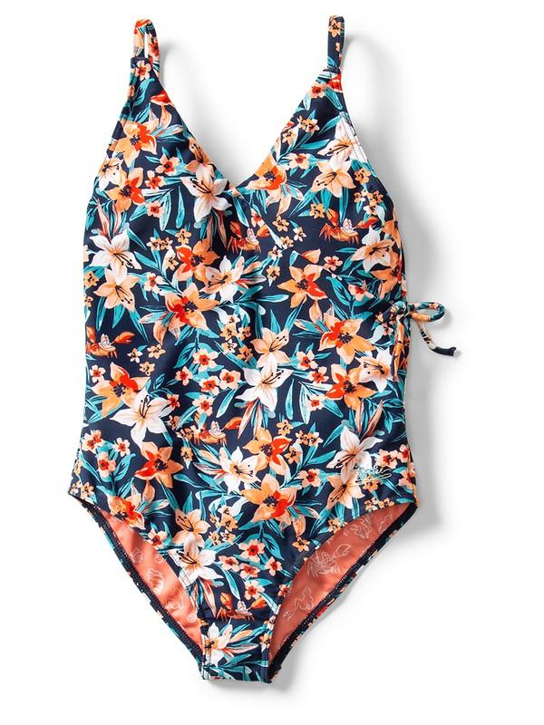 0 Ariel Sebastian Floral One-Piece Swimsuit Blue ARGX103021 Roxy