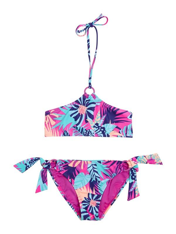 0 Girls 7-14 Take Me To Paradise Bandeau Set Swimsuit  ARGX200014 Roxy
