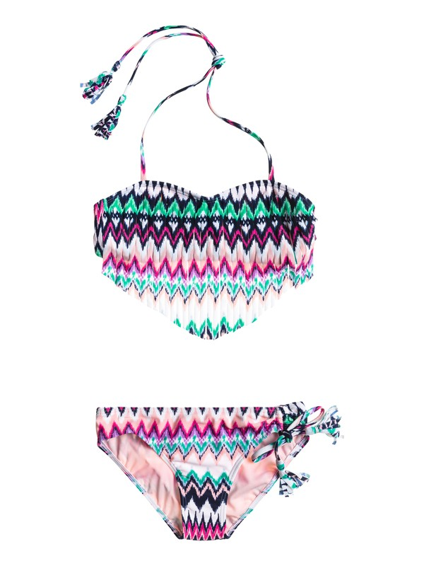 0 Girls 7-14 Fringe Bandeau Swim Set  ARGX203009 Roxy