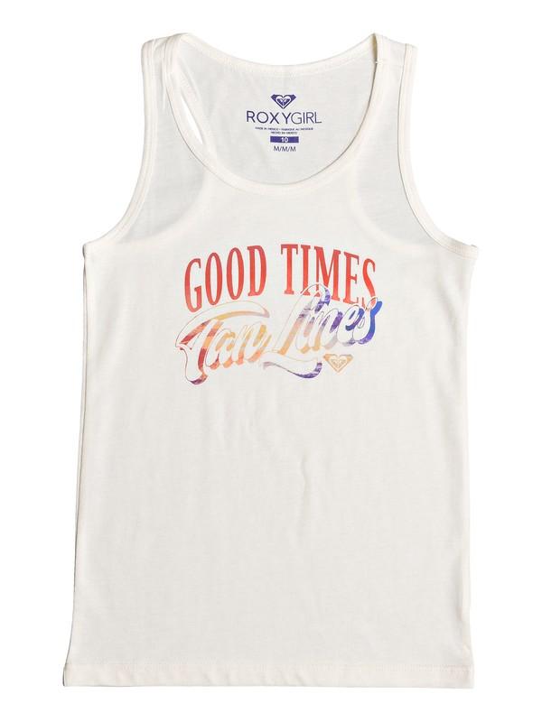 0 Girl's 7-14 Good Times Tanlines Racerback Tank White ARGZT03225 Roxy