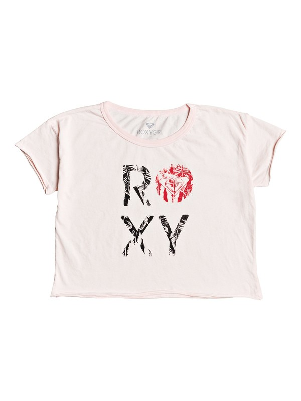 0 Girl's 7-14 Island Palm Cropped Tee Pink ARGZT03305 Roxy