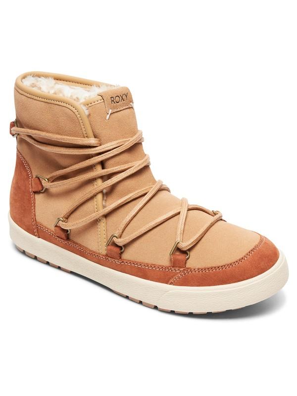 0 Darwin - Faux-Fur Lined Boots for Women Brown ARJB300017 Roxy