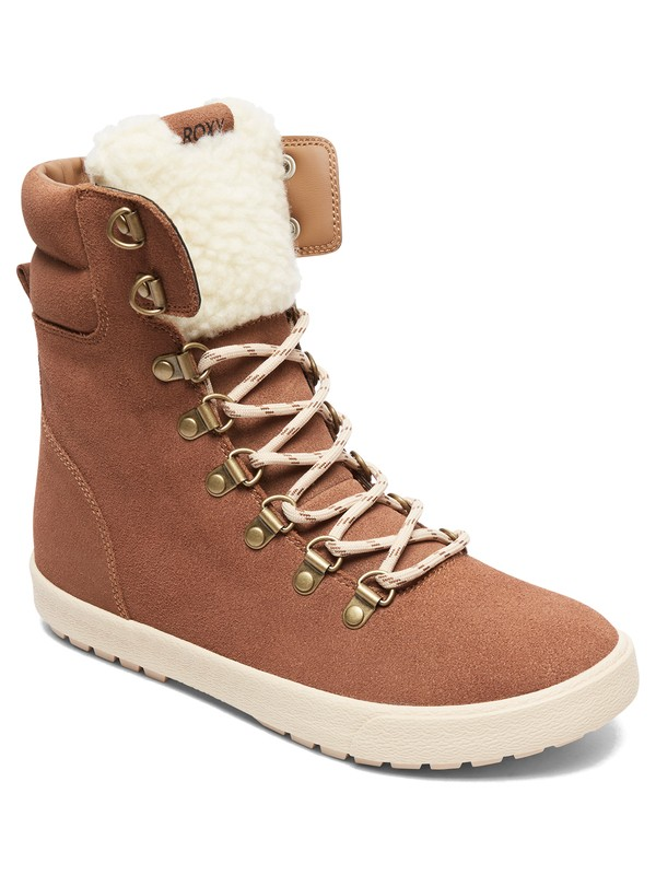 0 Anderson - Lace-Up Boots for Women Brown ARJB700556 Roxy
