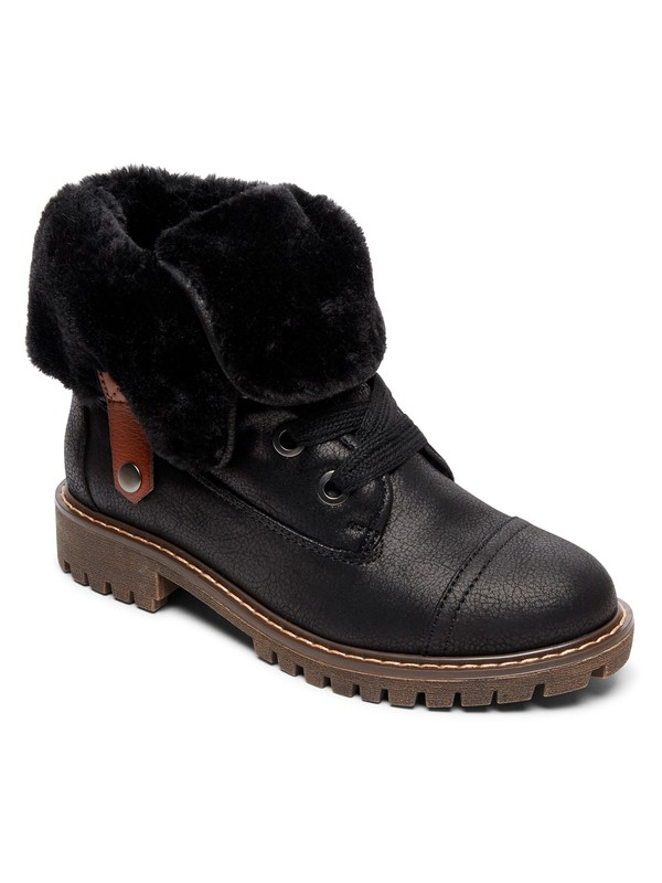 0 Bruna Lace-Up Boots Black ARJB700580 Roxy