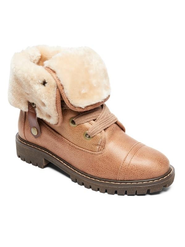 0 Bruna Lace-Up Boots Beige ARJB700580 Roxy