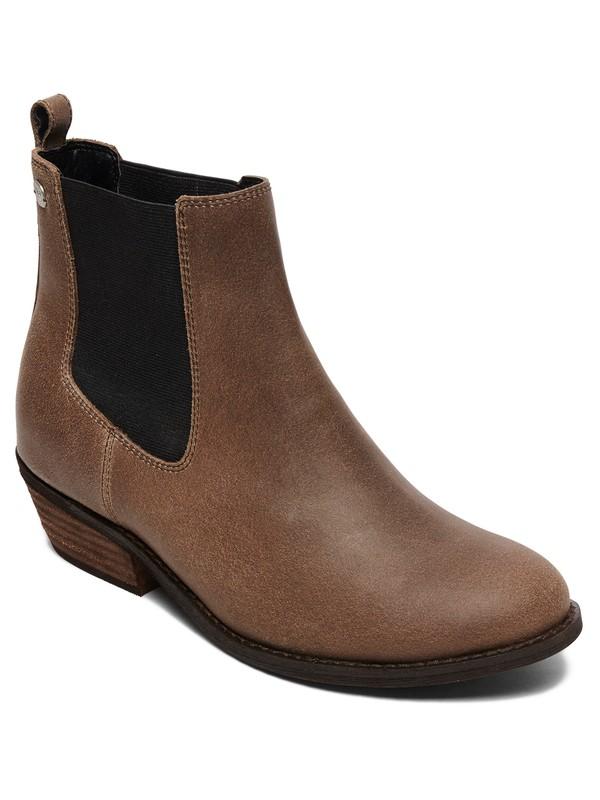 0 Karina Leather Ankle Boots Grey ARJB700589 Roxy