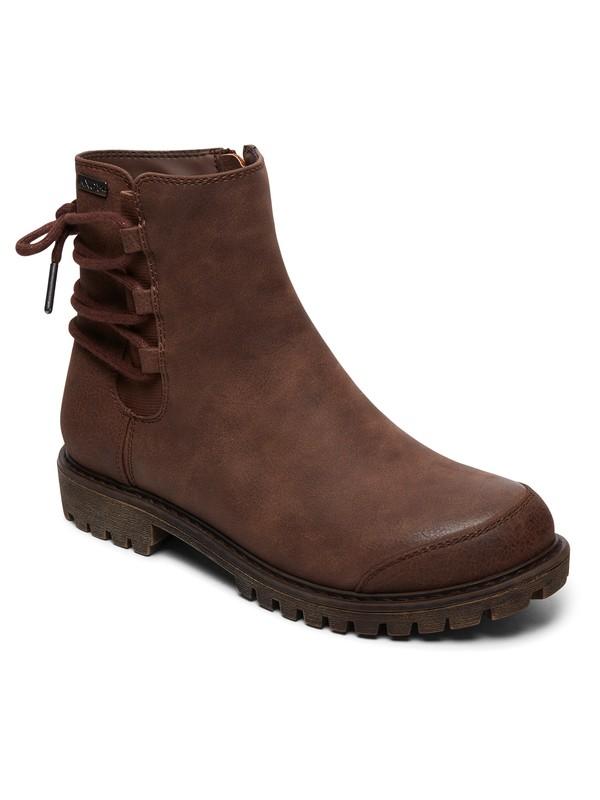 0 Kearney Faux Leather Boots Brown ARJB700596 Roxy